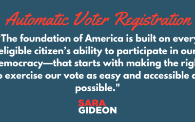 Automatic Voter Registration Bill Introduced by Speaker Gideon Earns Committee Approval