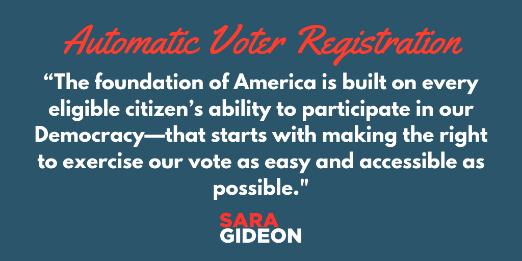Speaker Gideon Pushes for Automatic Voter Registration